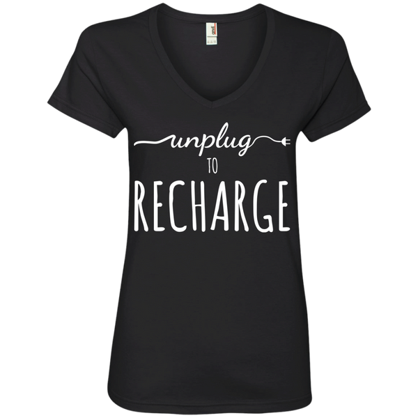 Unplug To Recharge Travel T-Shirt - The Art Of Travel Store: Travel Accessories, Travel Clothes, Travel Gear