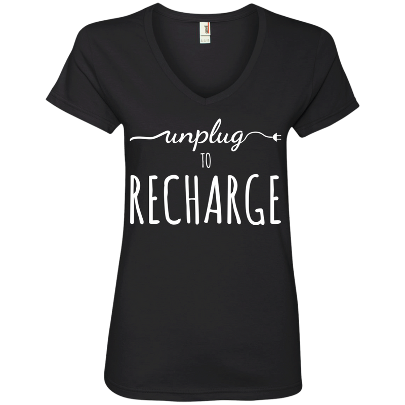 Unplug To Recharge Travel T-Shirt - The Art Of Travel Store: Travel Accessories and Travel T-Shirts