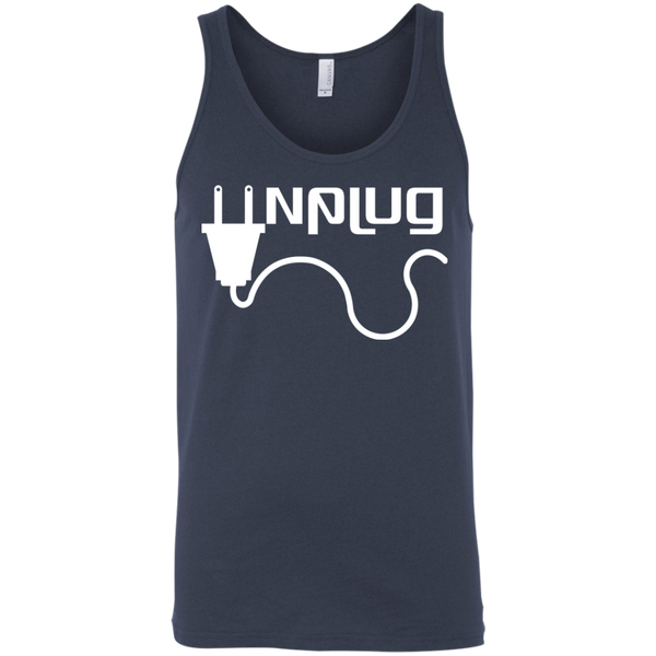 Unplug the World Men's Travel Tank - The Art Of Travel Store: Travel Accessories and Travel T-Shirts