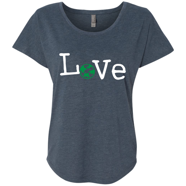 Love Travel Green Globe Women's T-Shirt - The Art Of Travel