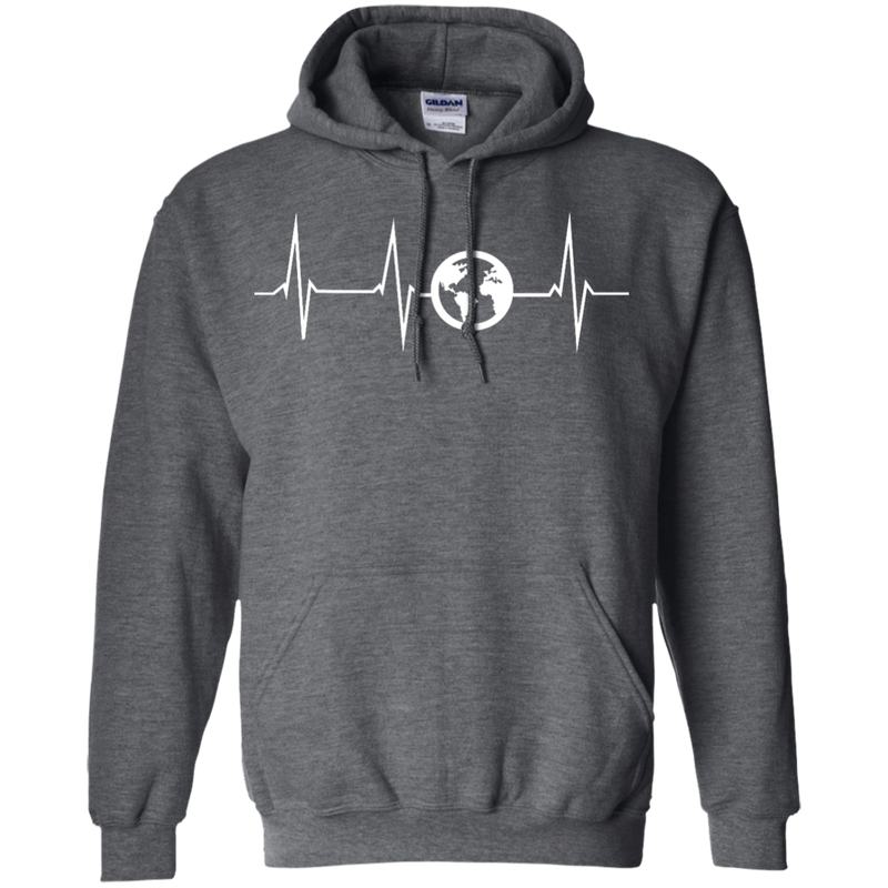 Heartbeat Pullover Hoodie - The Art Of Travel Store: Travel Accessories, Travel Clothes, Travel T-Shirts