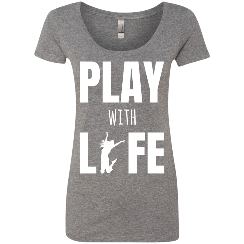 Play with Life Women's Travel T-Shirt - The Art Of Travel Store: Travel Accessories and Travel T-Shirts
