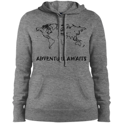 Adventure Awaits Ladies' Pullover Hooded Sweatshirt - The Art Of Travel Store: Travel Accessories and Travel T-Shirts