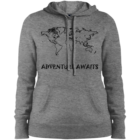Adventure Awaits Ladies' Pullover Hooded Sweatshirt - The Art Of Travel Store: Travel Accessories, Travel Clothes, Travel Gear