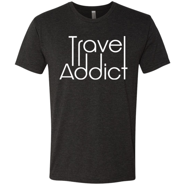 Travel Addict Men's Adventure Wanderlust T-Shirt - The Art Of Travel Store: Travel Accessories and Travel T-Shirts