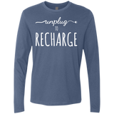 Unplug to Recharge Men's Long Sleeve Travel Tee - The Art Of Travel Store: Travel Accessories, Travel Clothes, Travel Gear