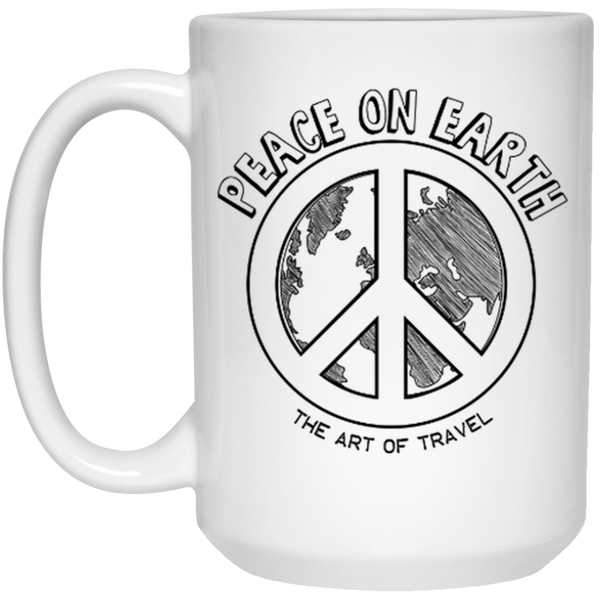 Peace on Earth 15 oz. Mug - The Art Of Travel Store: Travel Accessories and Travel T-Shirts