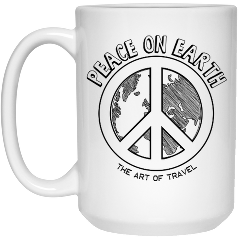 Peace on Earth 15 oz. Mug - The Art Of Travel Store: Travel Accessories, Travel Clothes, Travel Gear