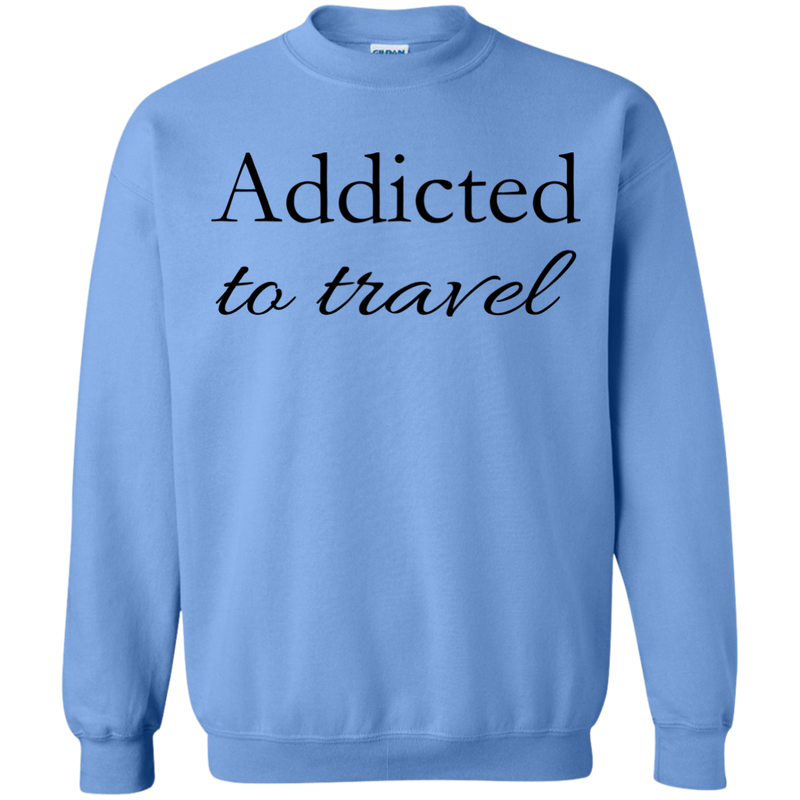 Addicted to Travel Men's Crewneck Pullover Sweatshirt - The Art Of Travel