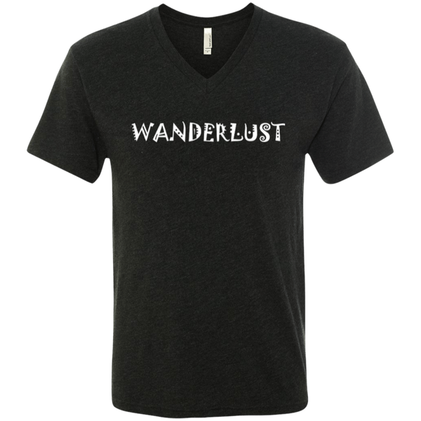 Wanderlust Men's Travel V-Neck T-Shirt - The Art Of Travel Store: Travel Accessories, Travel Clothes, Travel Gear