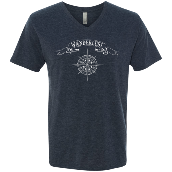 Wanderlust Men's Travel V-Neck T-Shirt - The Art Of Travel Store: Travel Accessories and Travel T-Shirts