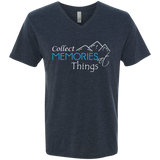 Collect Memories Not Things Men's Travel V-Neck Tee - The Art Of Travel Store: Travel Accessories, Travel Clothes, Travel Gear