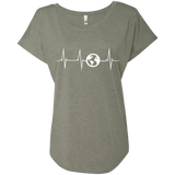 Heartbeat Pulse Globe Travel Women's T-Shirt - The Art Of Travel Store: Travel Accessories, Travel Clothes, Travel Gear
