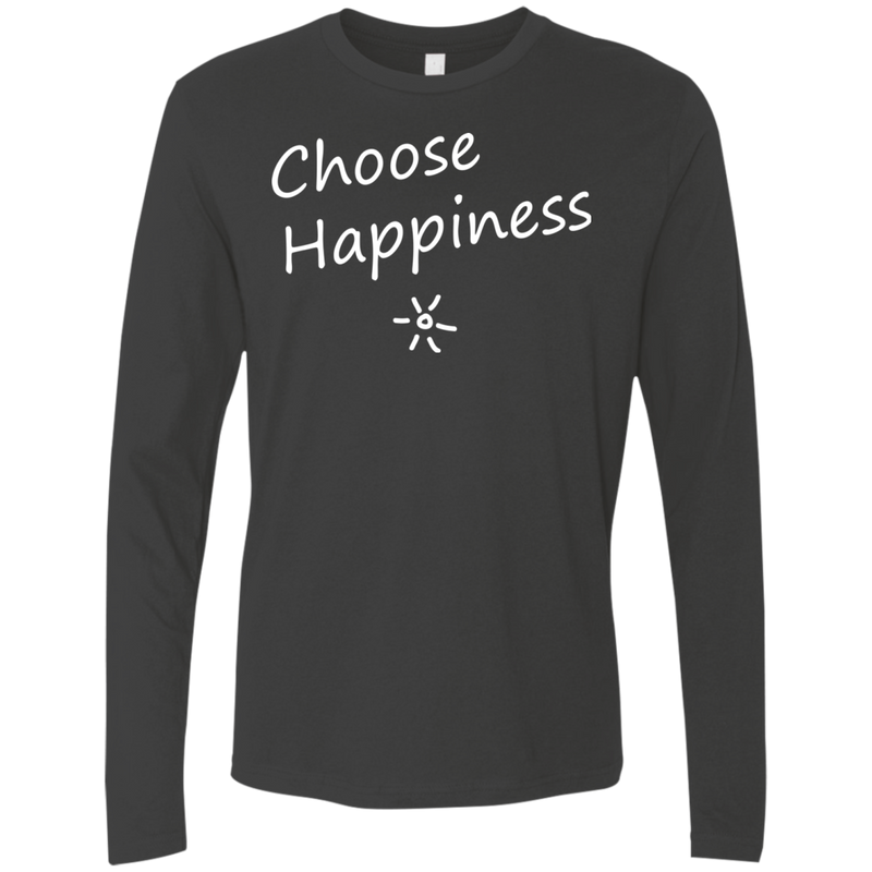 Choose Happiness Men's Long Sleeve Travel T-Shirt - The Art Of Travel Store: Travel Accessories and Travel T-Shirts