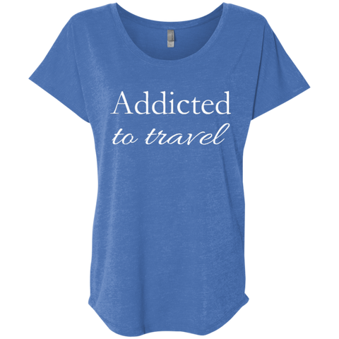Addicted to Travel Womens T-Shirt