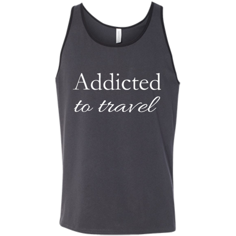 Addicted to Travel Men's Cotton Summer Tank - The Art Of Travel