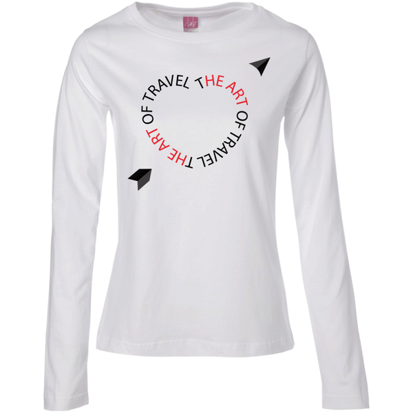 Heart for Travel Ladies Long Sleeve Cotton Tee - The Art Of Travel Store: Travel Accessories and Travel T-Shirts