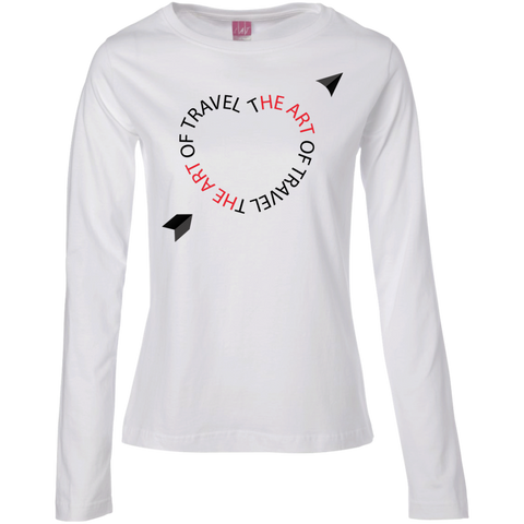 Heart for Travel Ladies Long Sleeve Cotton Tee - The Art Of Travel Store: Travel Accessories, Travel Clothes, Travel Gear