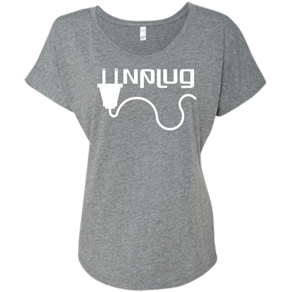 Unplug Womens Travel T-Shirt - The Art Of Travel