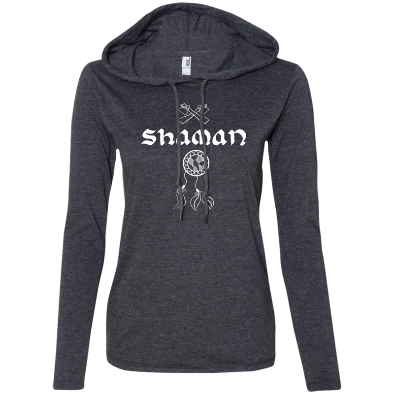 Shaman Ladies' T-Shirt Hoodie - The Art Of Travel Store: Travel Accessories and Travel T-Shirts