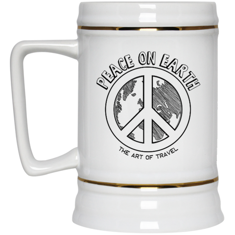 Peace on Earth: Art of Travel Large Beer Stein - The Art Of Travel Store: Travel Accessories, Travel Clothes, Travel Gear
