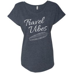 Travel Vibes Ladies Wanderlust T-Shirt - The Art Of Travel Store: Travel Accessories and Travel T-Shirts