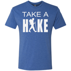 Take a Hike Men's Hiking Travel Triblend Tee - The Art Of Travel