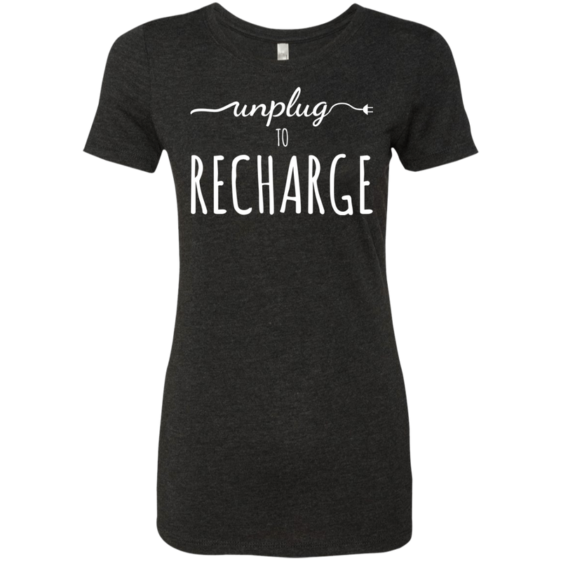 Unplug To Recharge Travel T-Shirt - The Art Of Travel