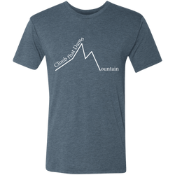 Climb That Mountain Men's Triblend T-Shirt - The Art Of Travel Store: Travel Accessories and Travel T-Shirts