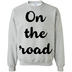 On the Road Men's Crewneck Pullover Sweatshirt - The Art Of Travel