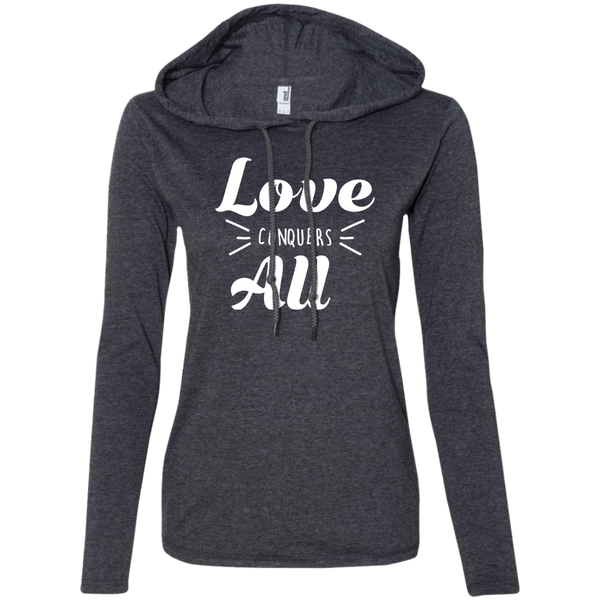 Love is Powerful Ladies' T-Shirt Hoodie - The Art Of Travel Store: Travel Accessories and Travel T-Shirts