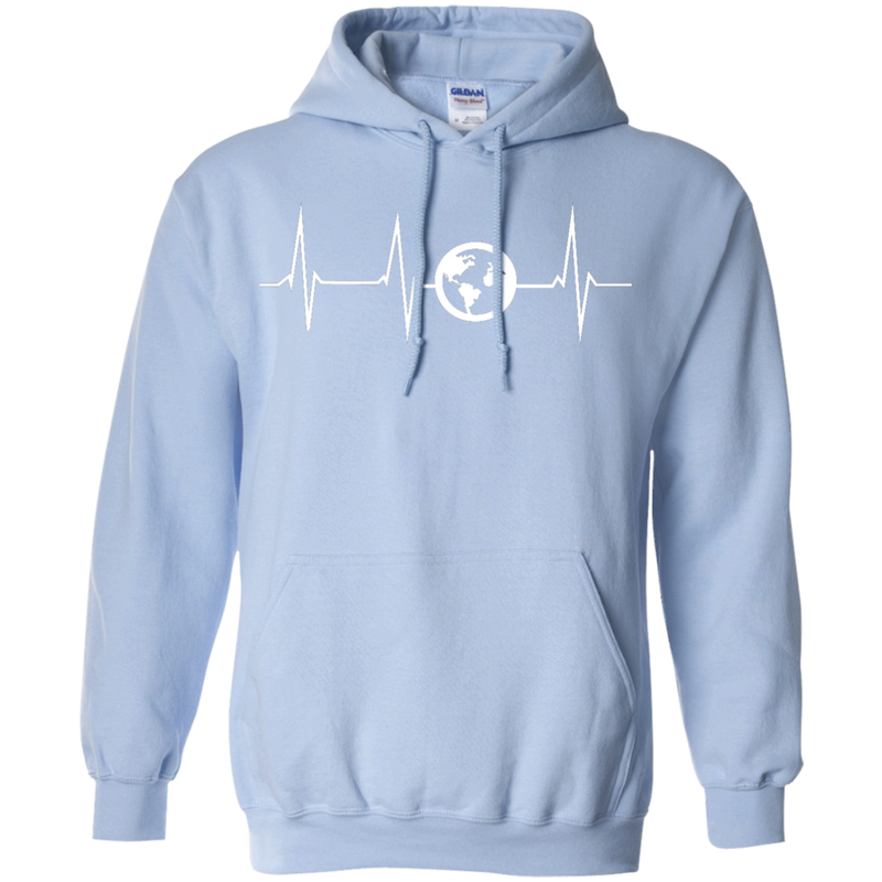 Heartbeat Pullover Hoodie - The Art Of Travel Store: Travel Accessories and Travel T-Shirts