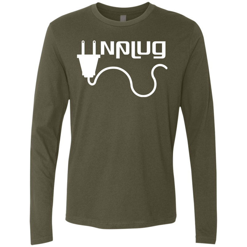 Unplug and Travel the World Men's Long Sleeve T-Shirt - The Art Of Travel Store: Travel Accessories, Travel Clothes, Travel Gear