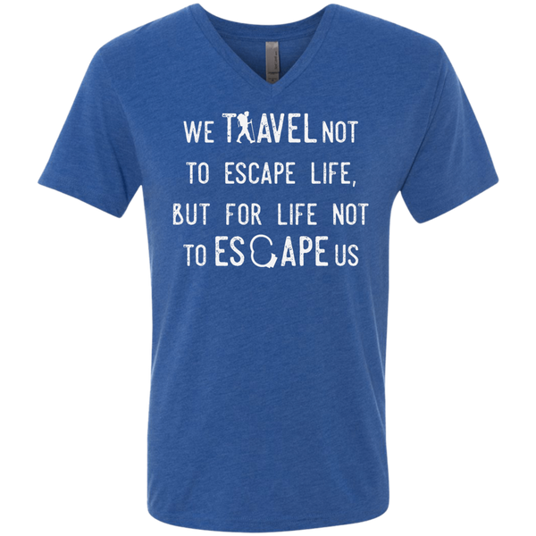 We Travel For Life Men's V-Neck T-Shirt - The Art Of Travel Store: Travel Accessories, Travel Clothes, Travel Gear