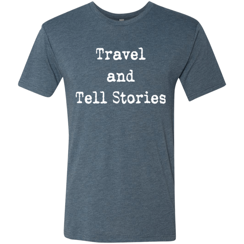 Travel and Tell Stories Men's Wanderlust Adventure Tee - The Art Of Travel Store: Travel Accessories and Travel T-Shirts