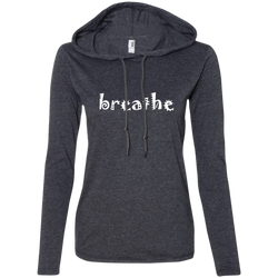 Breathe Ladies' T-Shirt Hoodie - The Art Of Travel Store: Travel Accessories and Travel T-Shirts
