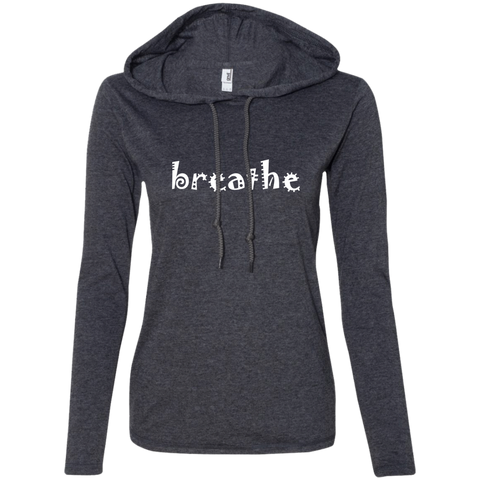 Breathe Ladies' T-Shirt Hoodie - The Art Of Travel Store: Travel Accessories, Travel Clothes, Travel Gear
