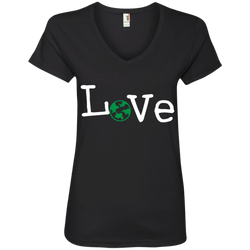 Love Travel Ladies' V-Neck T-Shirt - The Art Of Travel Store: Travel Accessories and Travel T-Shirts