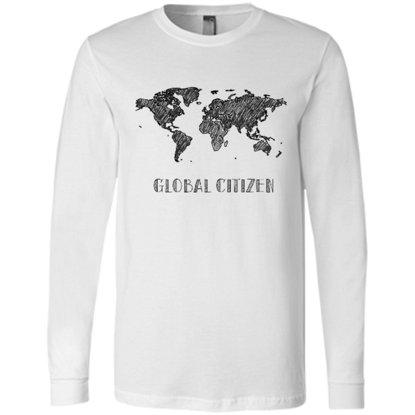 Global Citizen Men's Long Sleeve Travel T-Shirt - The Art Of Travel Store: Travel Accessories and Travel T-Shirts