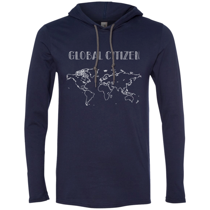 Global Citizen Mens T-Shirt Hoodie - The Art Of Travel Store: Travel Accessories and Travel T-Shirts