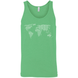 Art of Travel World Map Men's Travel Tank - The Art Of Travel Store: Travel Accessories, Travel Clothes, Travel Gear