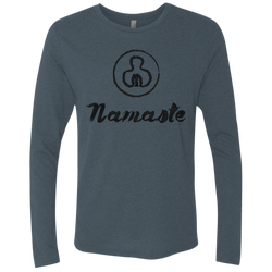 Namaste World Men's Long Sleeve Travel T-Shirt - The Art Of Travel Store: Travel Accessories and Travel T-Shirts