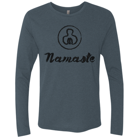 Namaste World Men's Long Sleeve Travel T-Shirt - The Art Of Travel Store: Travel Accessories, Travel Clothes, Travel Gear