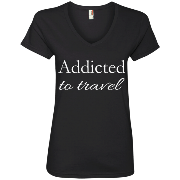 Addicted to Travel Womens T-Shirt - The Art Of Travel Store: Travel Accessories, Travel Clothes, Travel T-Shirts