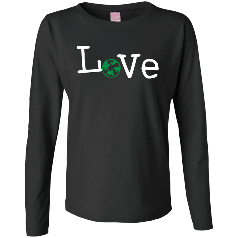 Love Travel Ladies Long Sleeve Cotton T-Shirt - The Art Of Travel Store: Travel Accessories and Travel T-Shirts