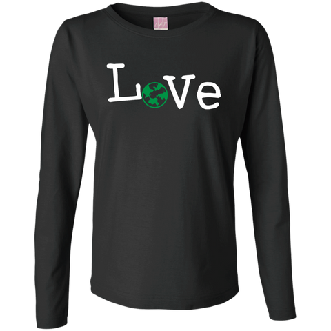 Love Travel Ladies Long Sleeve Cotton T-Shirt - The Art Of Travel Store: Travel Accessories, Travel Clothes, Travel Gear