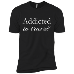 Addicted to Travel Premium 100% Cotton T-Shirt - The Art Of Travel Store: Travel Accessories and Travel T-Shirts