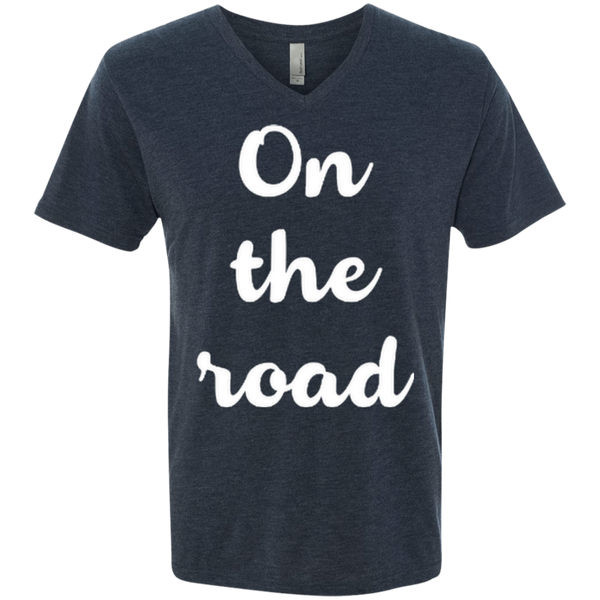 On the Road Men's Triblend V-Neck T-Shirt - The Art Of Travel Store: Travel Accessories and Travel T-Shirts