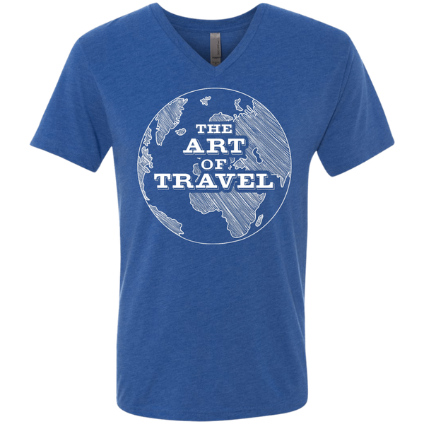 Art of Travel Men's Triblend V-Neck T-Shirt - The Art Of Travel