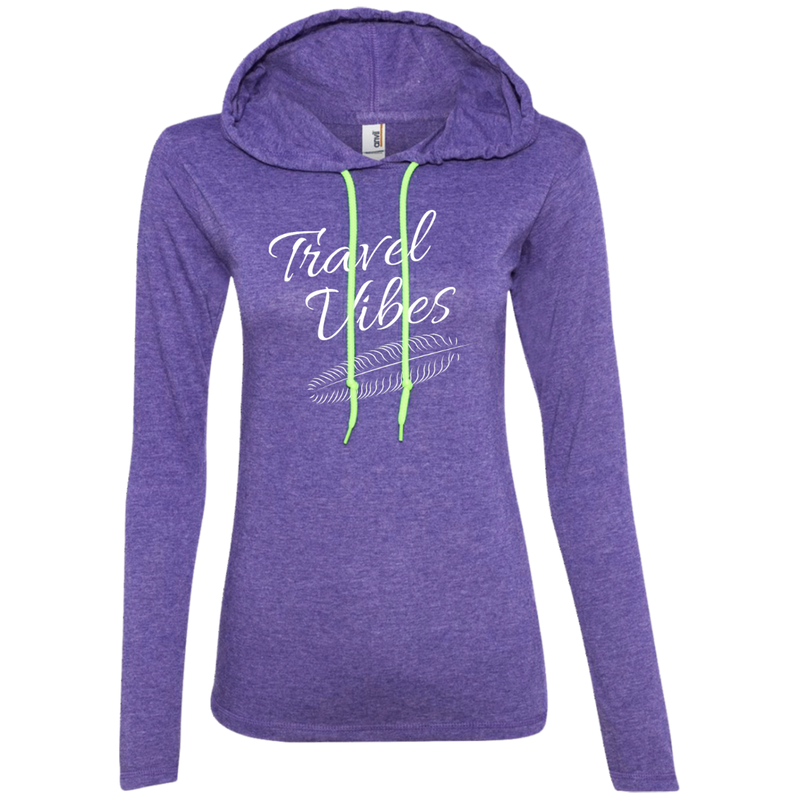 Travel Vibes Long Sleeve Hooded T-Shirt Hoodie - The Art Of Travel Store: Travel Accessories, Travel Clothes, Travel Gear